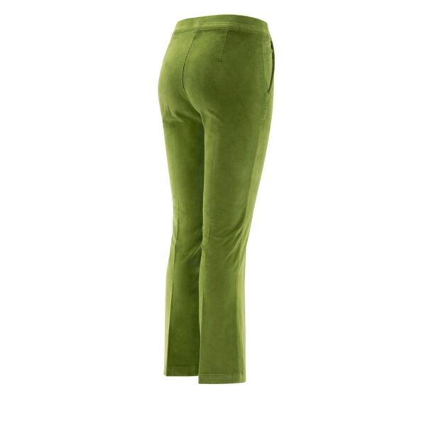 Pantalone Flare in velluto a costine VERDE - vista laterale | Nicla