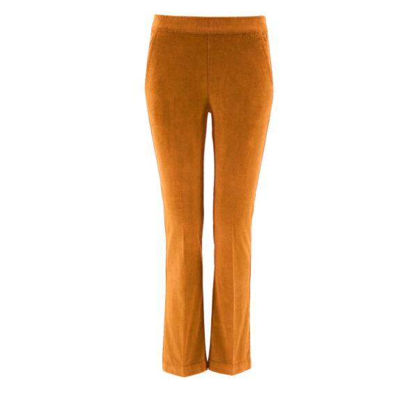 Pantalone Flare in velluto a costine MARRONE - vista frontale | Nicla