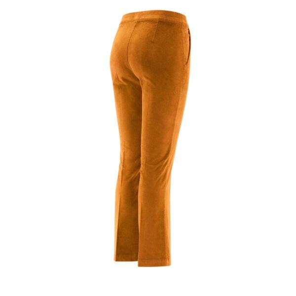 Pantalone Flare in velluto a costine MARRONE - vista laterale | Nicla