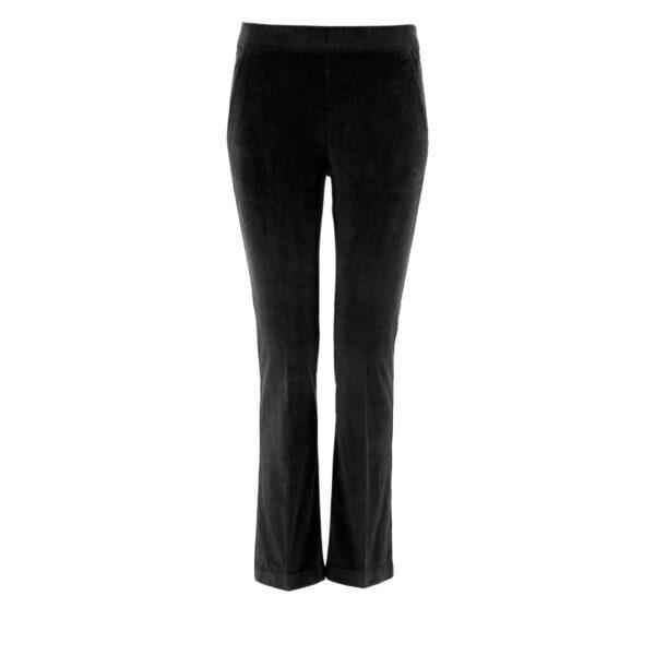 Pantalone Flare in velluto a costine NERO - vista frontale | Nicla