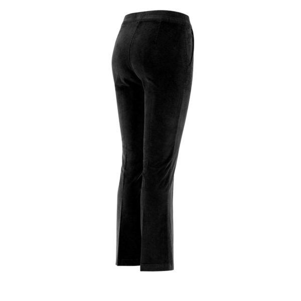 Pantalone Flare in velluto a costine NERO - vista laterale | Nicla