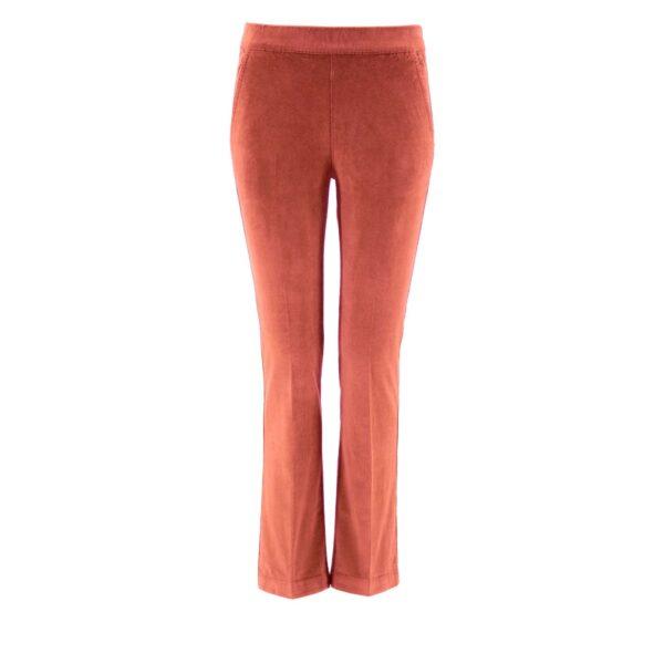 Pantalone Flare in velluto a costine ROSA - vista frontale | Nicla