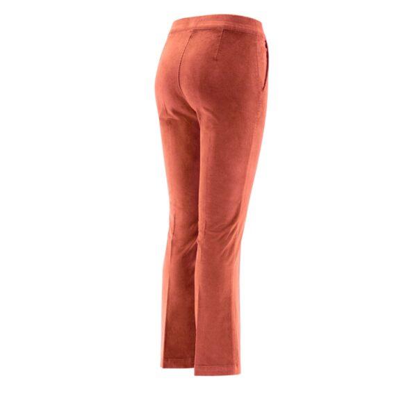 Pantalone Flare in velluto a costine ROSA - vista laterale | Nicla