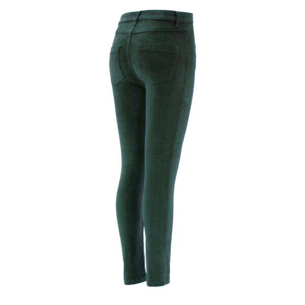 Pantalone Skinny in velluto a costine VERDE - vista laterale | Nicla