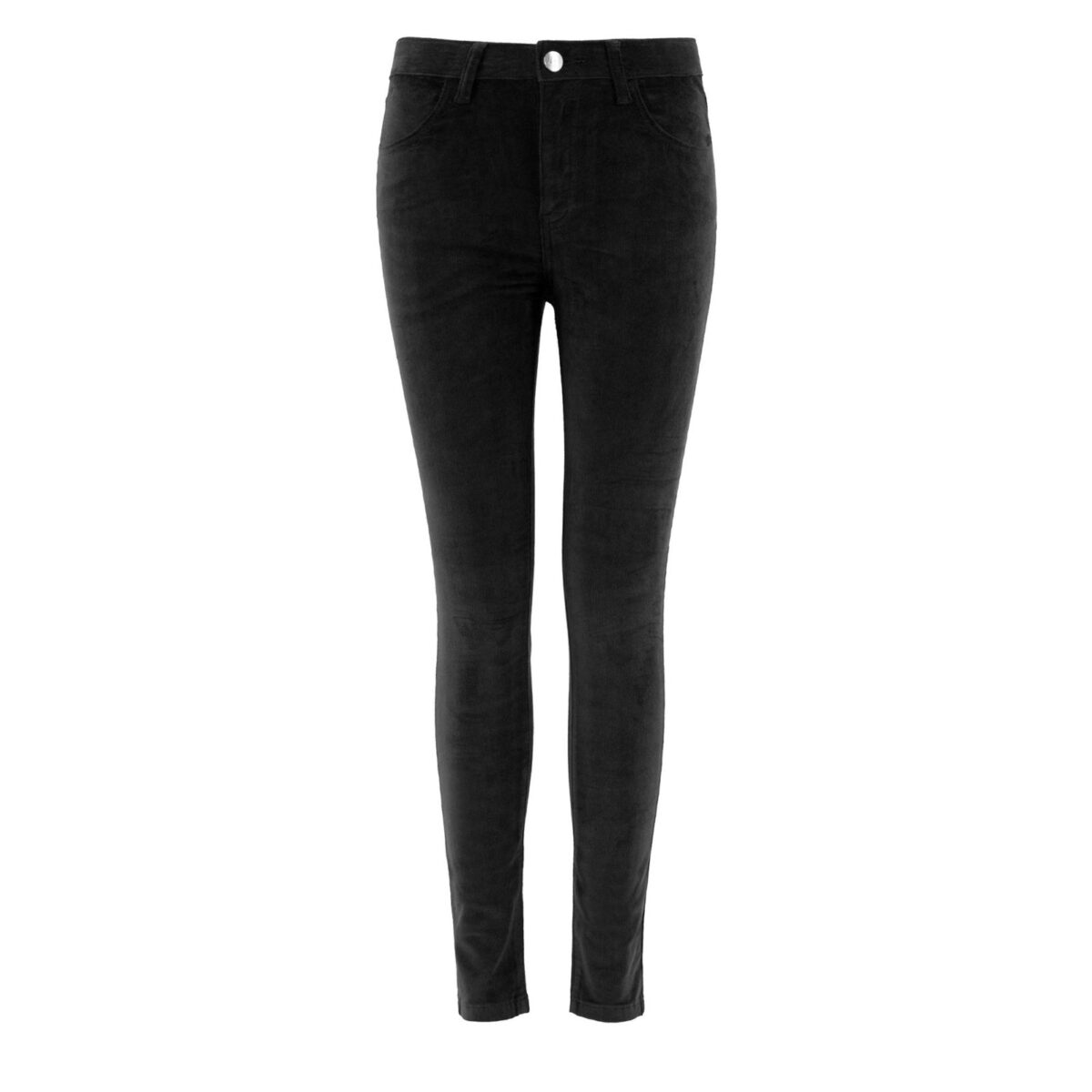 Pantalone Skinny in velluto a costine NERO - vista frontale | Nicla