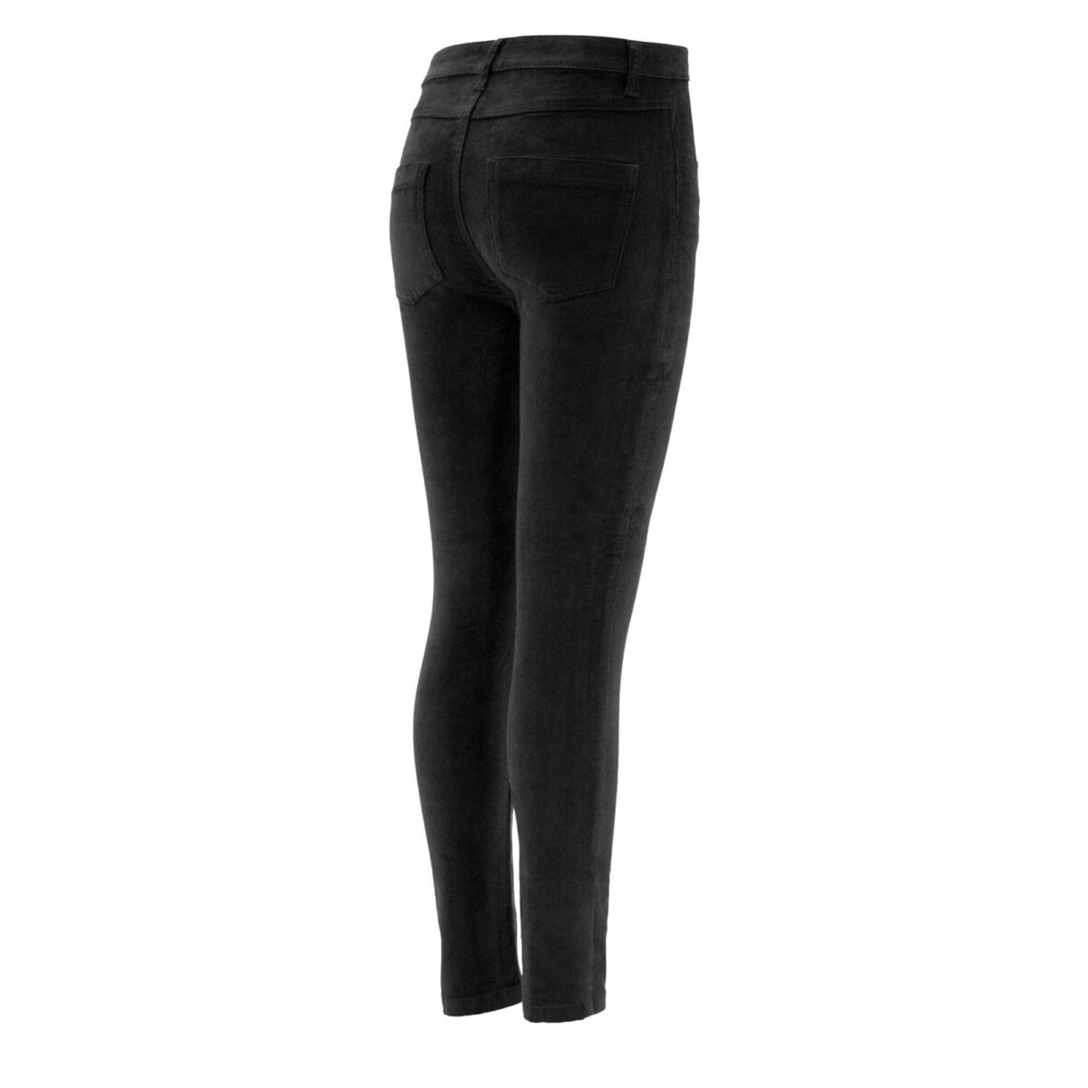Pantalone Skinny in velluto a costine NERO - vista laterale | Nicla