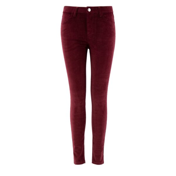 Pantalone Skinny in velluto a costine BORDEAUX - vista frontale | Nicla