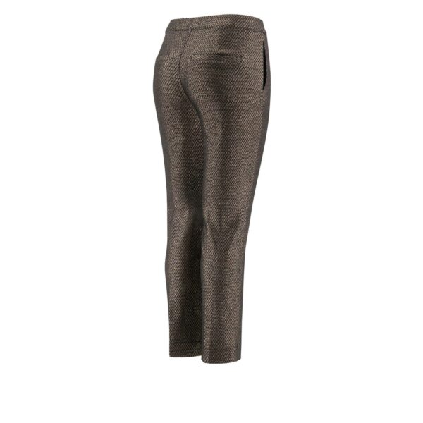 Pantalone Straight tessuto lurex NERO - vista laterale | Nicla