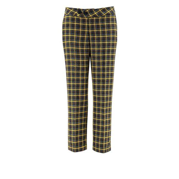 Pantalone Classic con fantasia check colorata NERO - vista frontale | Nicla