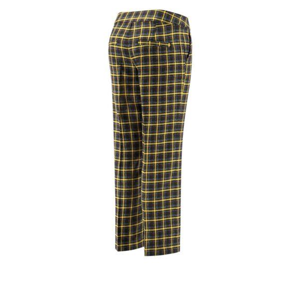Pantalone Classic con fantasia check colorata NERO - vista laterale | Nicla