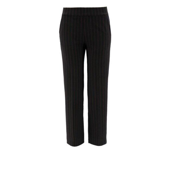 Pantalone Classic gessato lettering NERO - vista frontale | Nicla