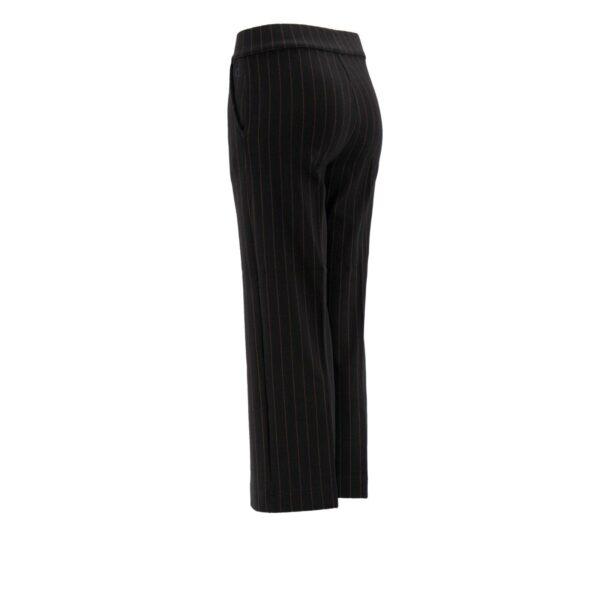 Pantalone Classic gessato lettering NERO - vista laterale | Nicla