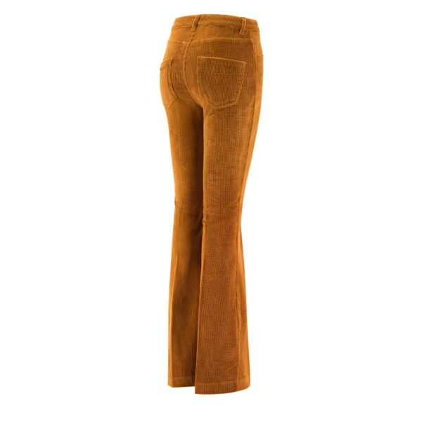 Pantalone Bootcut in velluto a costa larga MARRONE - vista laterale | Nicla