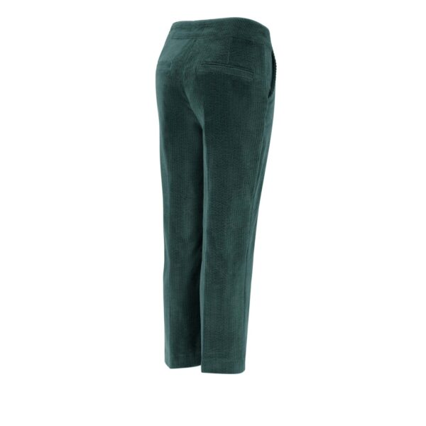 Pantalone Classic in velluto a costa larga VERDE - vista laterale   Nicla