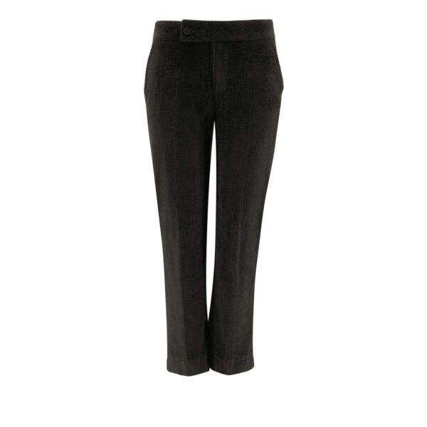 Pantalone Classic in velluto a costa larga NERO - vista frontale | Nicla
