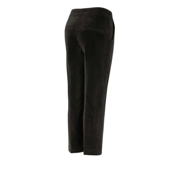 Pantalone Classic in velluto a costa larga NERO - vista laterale | Nicla