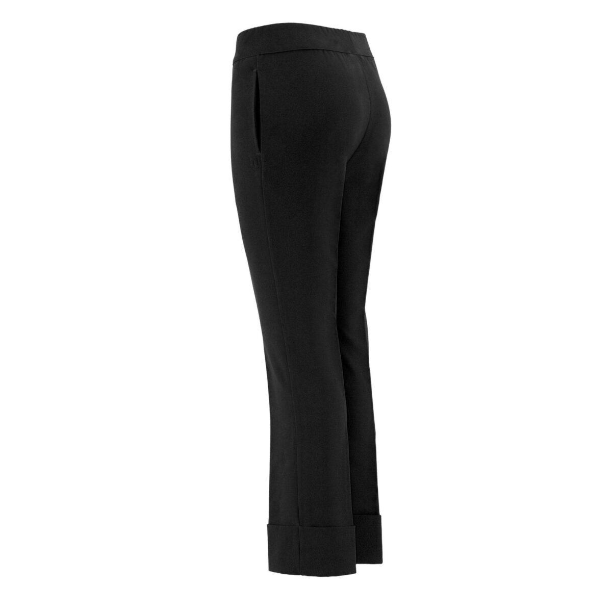 Pantalone Folded hem NERO - vista laterale | Nicla