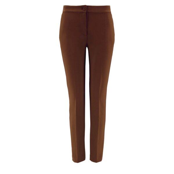 Pantalone Straight MARRONE - vista frontale   Nicla