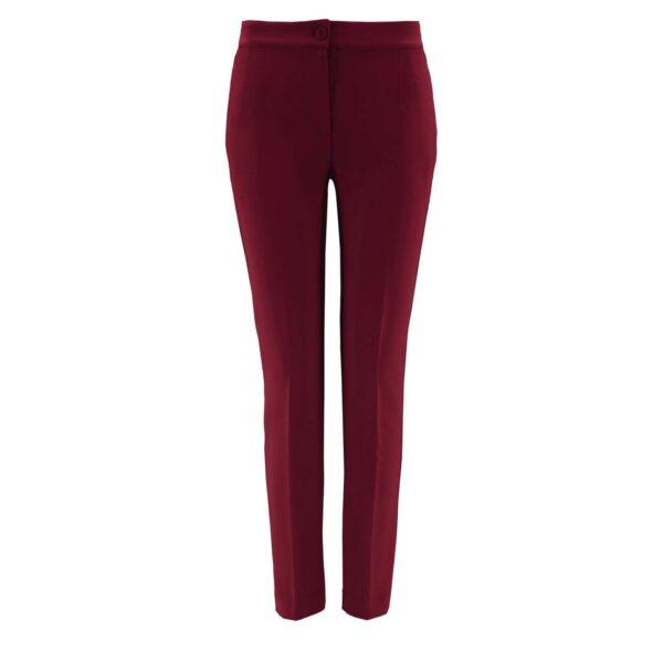 Pantalone Straight BORDEAUX - vista frontale   Nicla