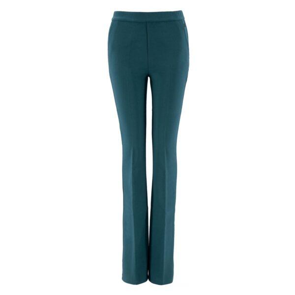 Pantalone Bootcut VERDE - vista frontale   Nicla