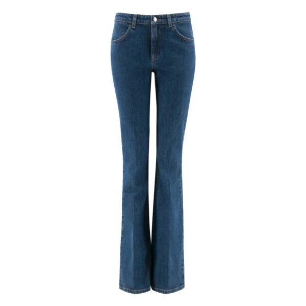 Pantalone Bootcut in denim DENIM - vista frontale | Nicla