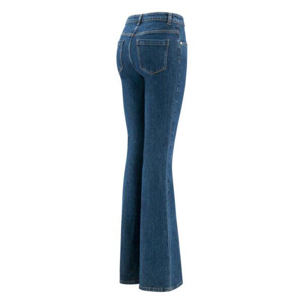 Pantalone Bootcut in denim DENIM - vista laterale | Nicla