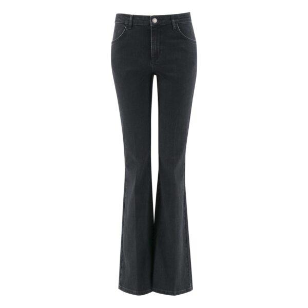 Pantalone Bootcut in denim DENIM - vista frontale   Nicla