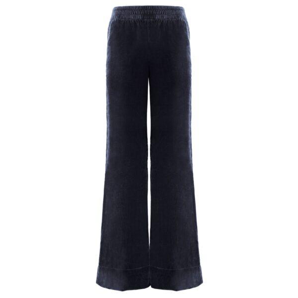 Pantalone Palazzo in velluto Blu - vista frontale | Nicla