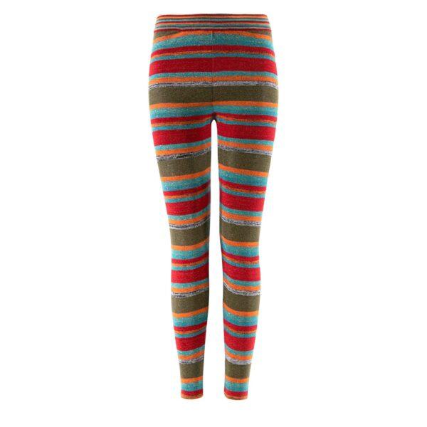 Pantalone Skinny in maglia con lurex Rosso - vista frontale   Nicla
