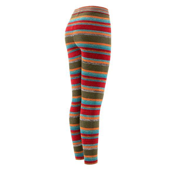 Pantalone Skinny in maglia con lurex Rosso - vista laterale   Nicla