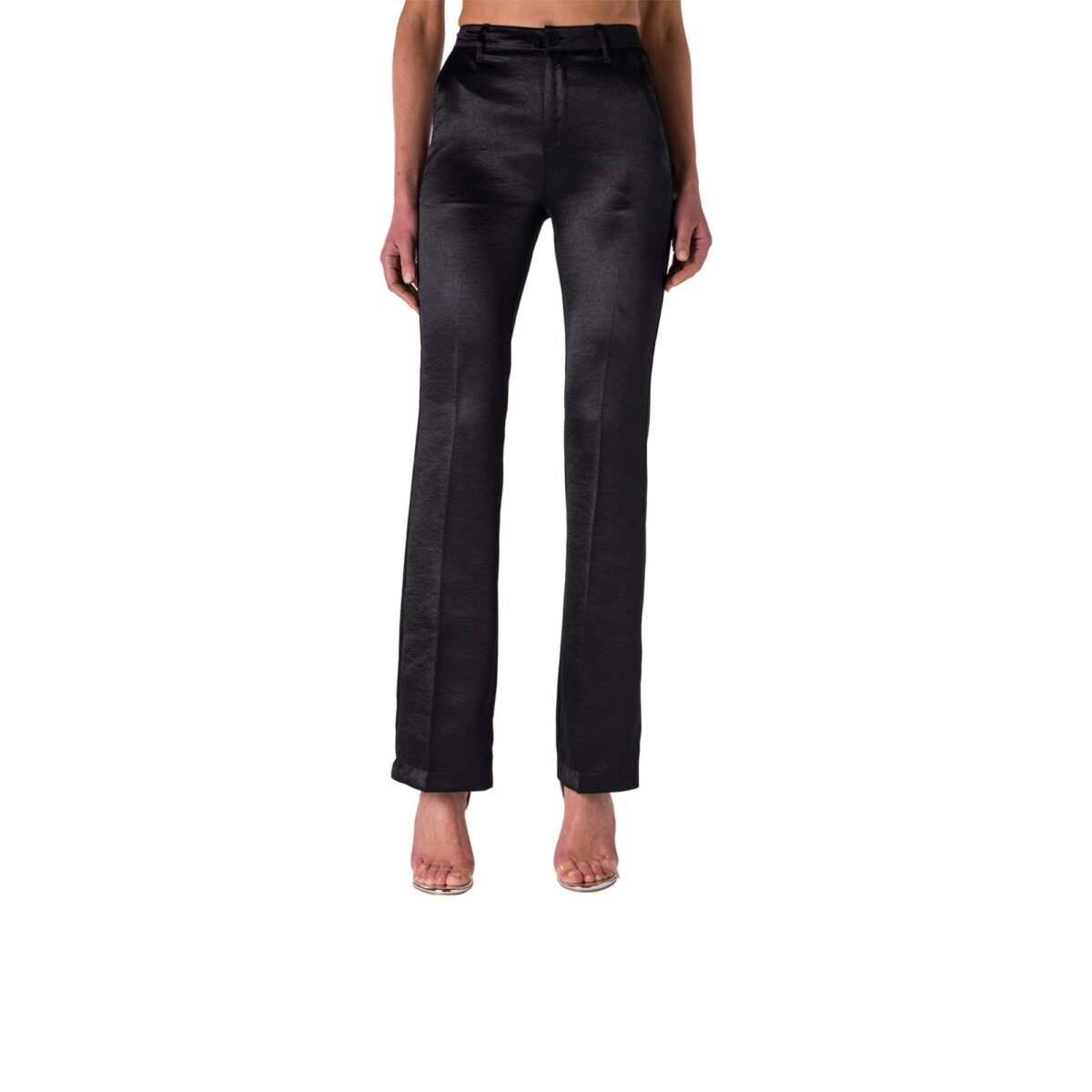 Pantalone Bootcut in satin acetato