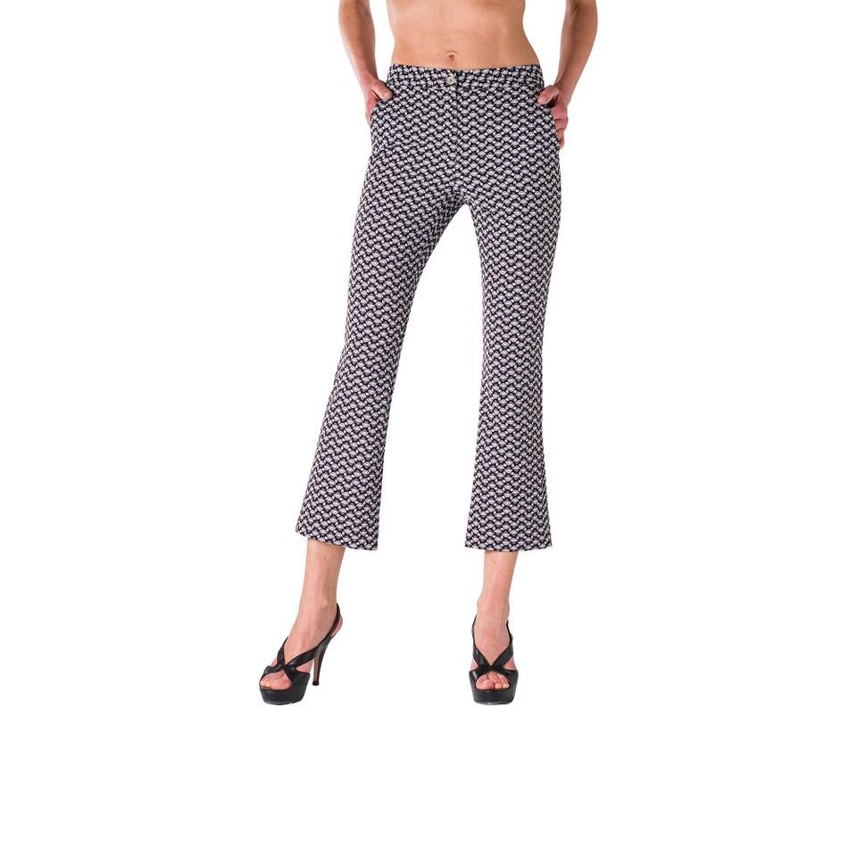 Pantalone Flare a fantasia geometrica