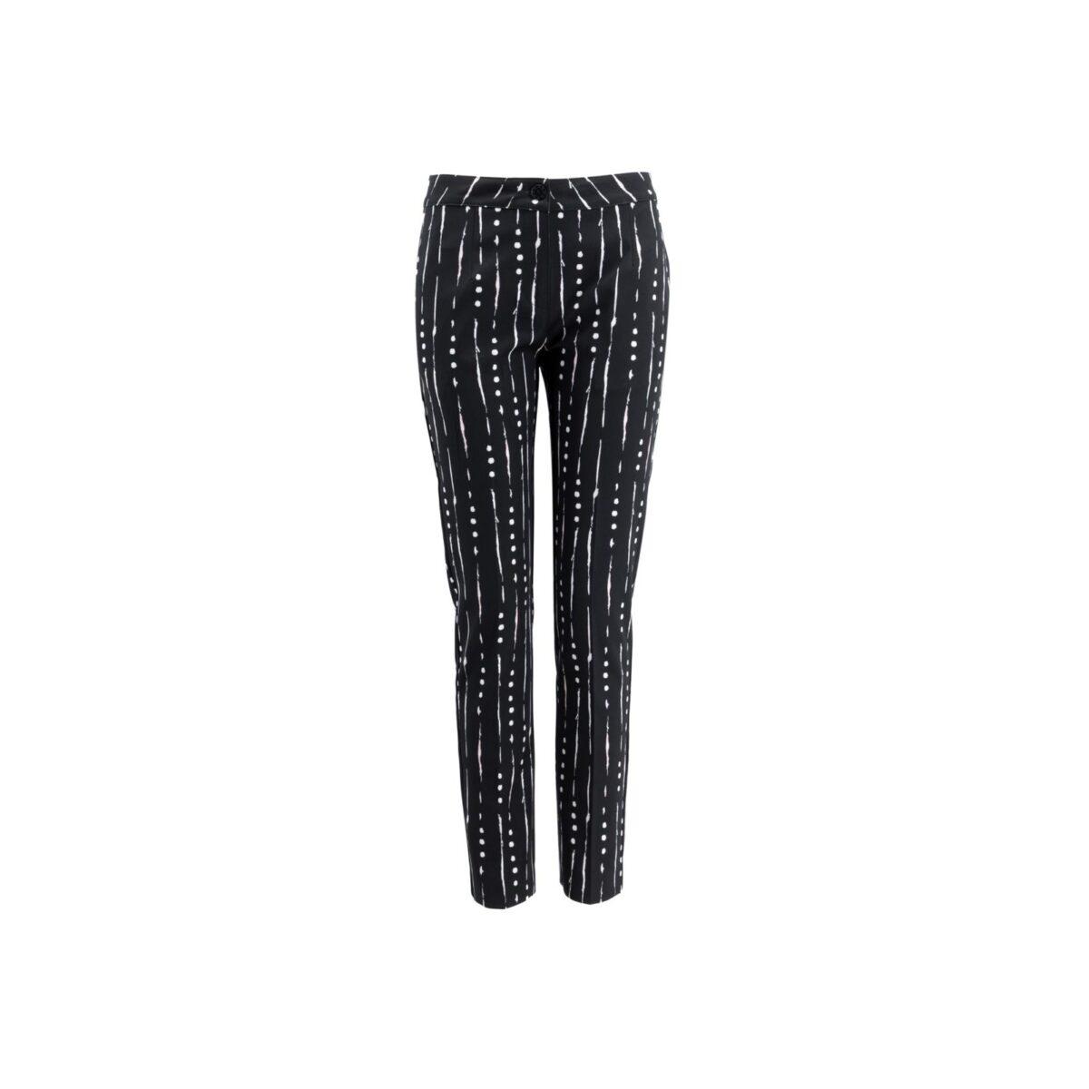 Pantalone Straight a fantasia geometrica