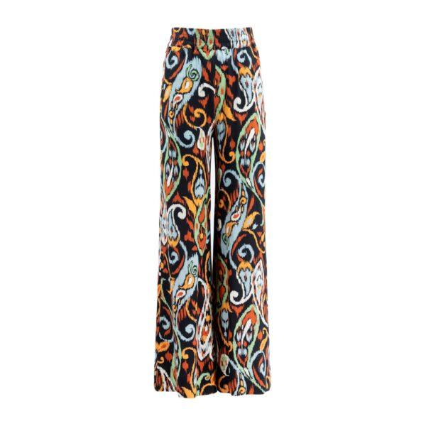 Pantalone Palazzo Multicolor - vista frontale | Nicla