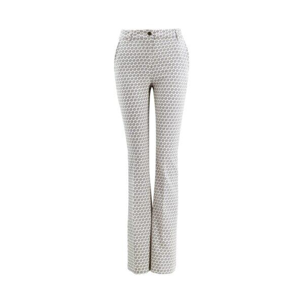 Pantalone Bootcut a fantasia geometrica