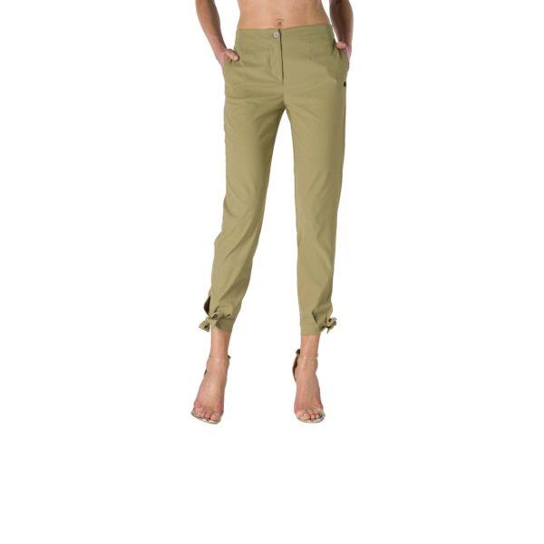 Pantalone Straight con fiocchetti