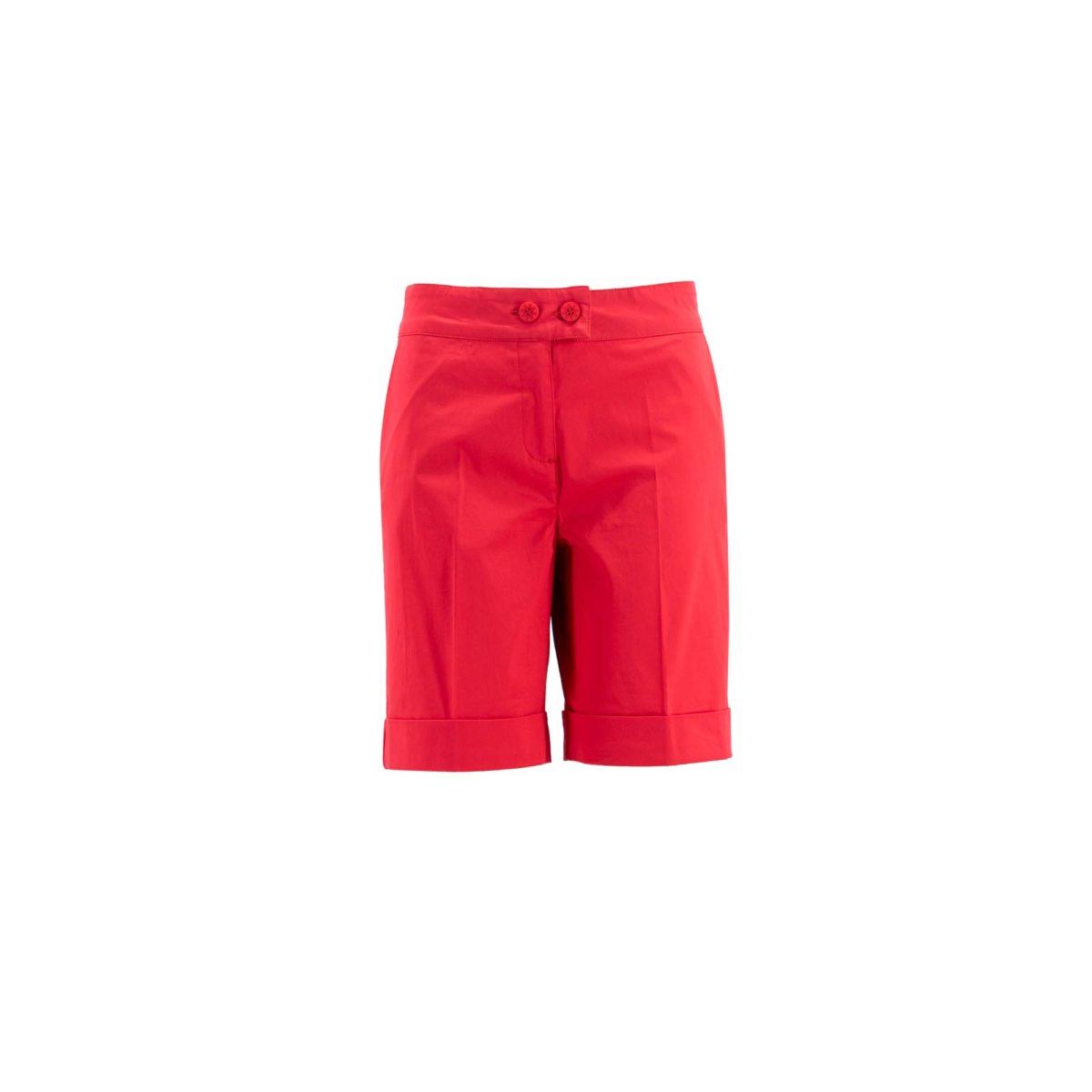 Shorts Bermuda Rosso Corallo - vista frontale | Nicla