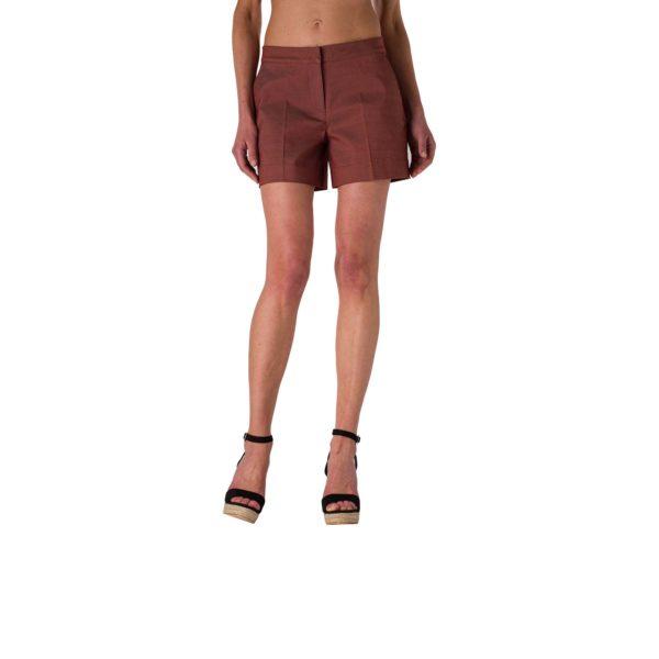 Shorts Straight Marrone - Nicla