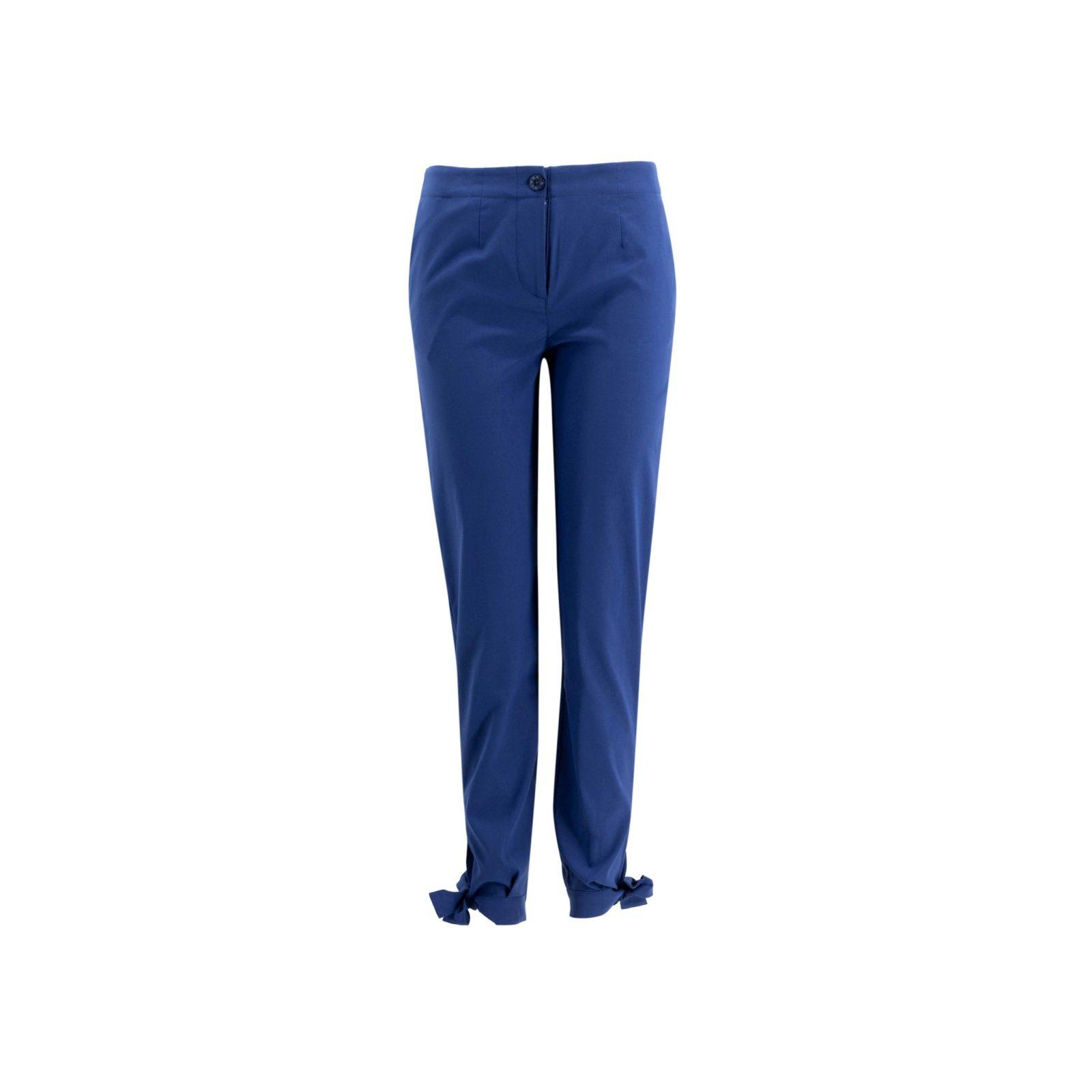 Pantalone Straight con fiocchetti Blu - vista frontale | Nicla