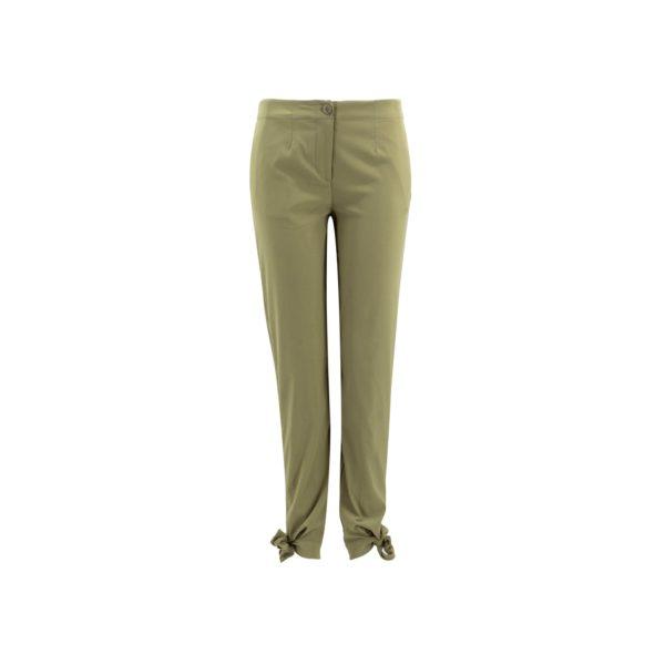 Pantalone Straight con fiocchetti Sabbia - vista frontale | Nicla