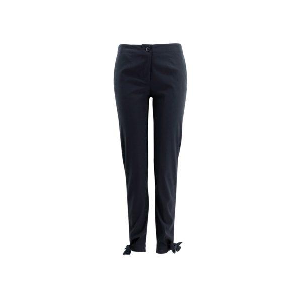 Pantalone Straight con fiocchetti Nero - vista frontale | Nicla