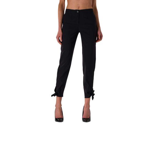 Pantalone Straight con fiocchetti Nero - vista laterale | Nicla