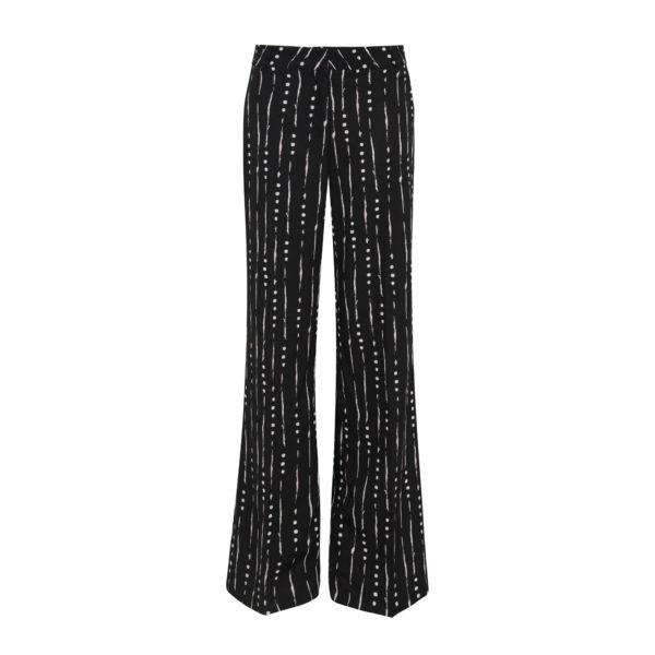 Pantalone Wide leg a fantasia geometrica