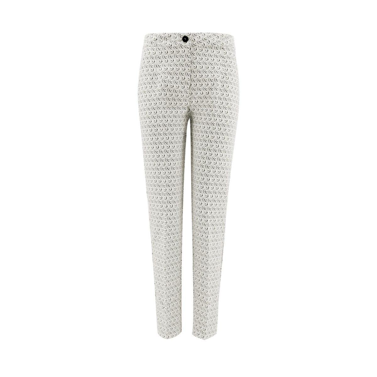 Pantalone Straight a fantasia geometrica  - vista frontale | Nicla