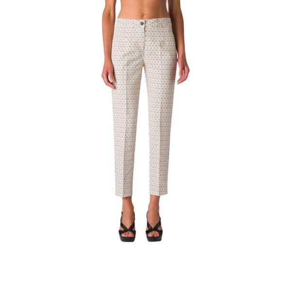 Pantalone Straight a fantasia geometrica  - Nicla
