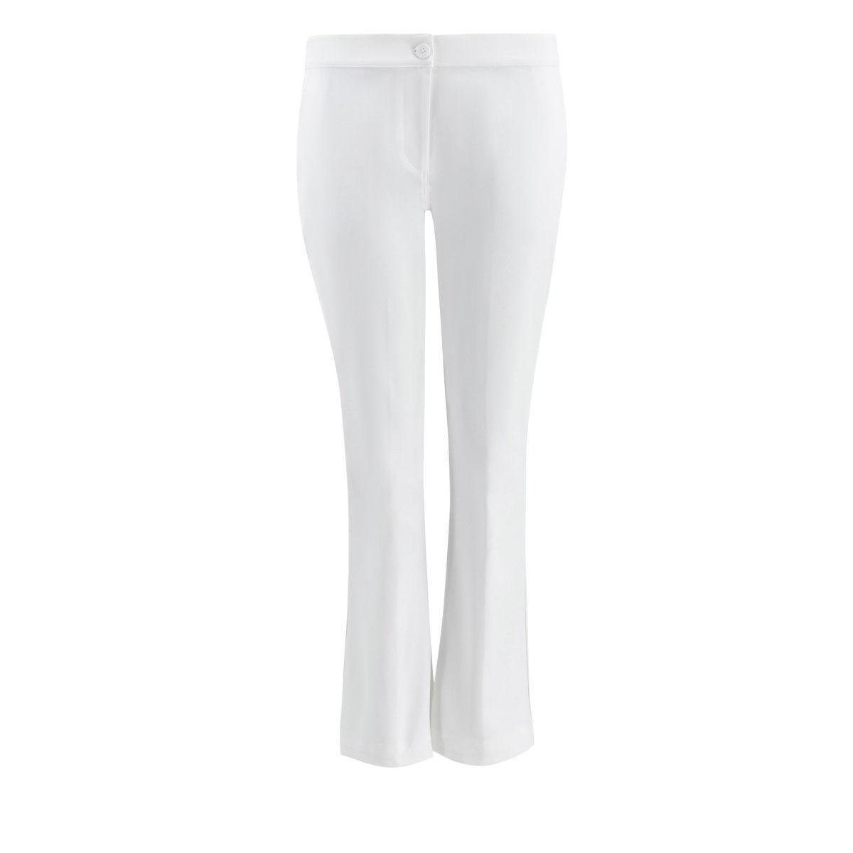 Pantalone Flare bull denim Bianco - vista frontale   Nicla