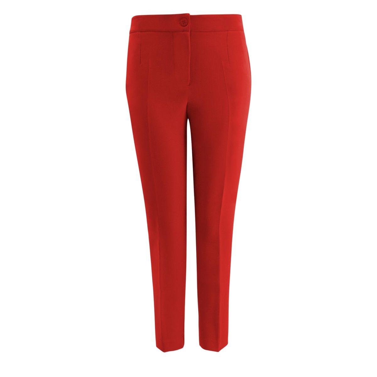 Pantalone Straight Rosso - vista frontale | Nicla