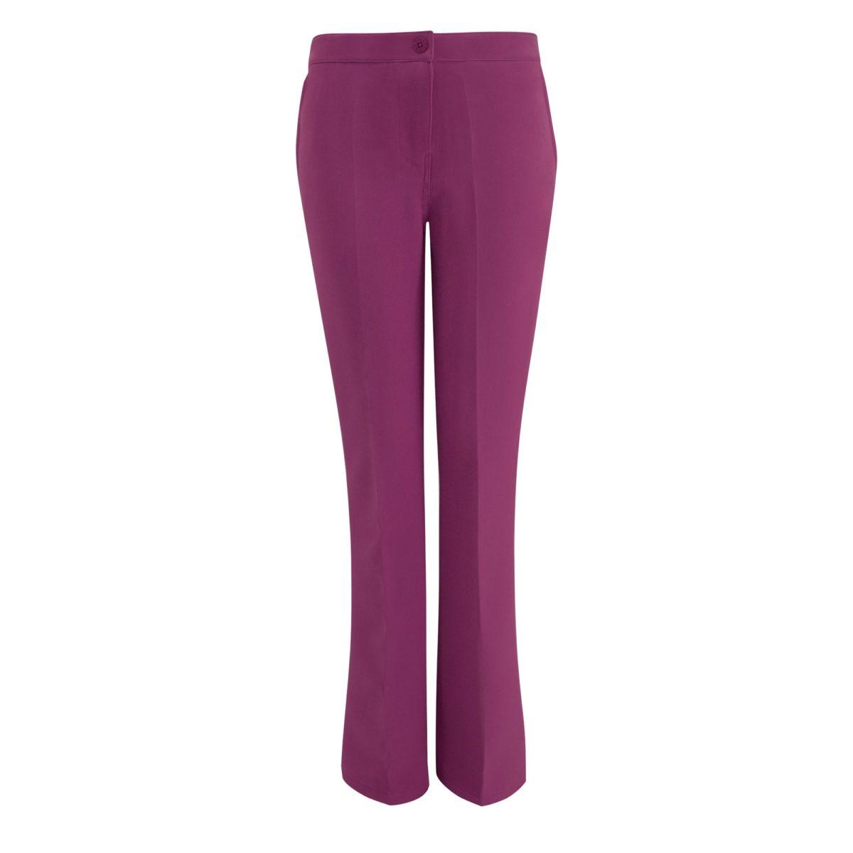 Pantalone Bootcut Viola - vista frontale | Nicla