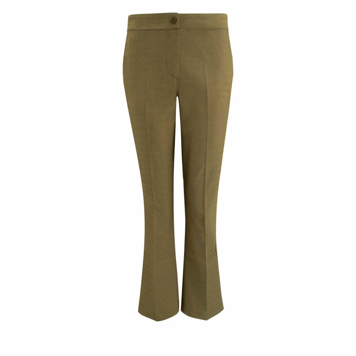 Pantalone Flare bull denim Verde - vista frontale   Nicla