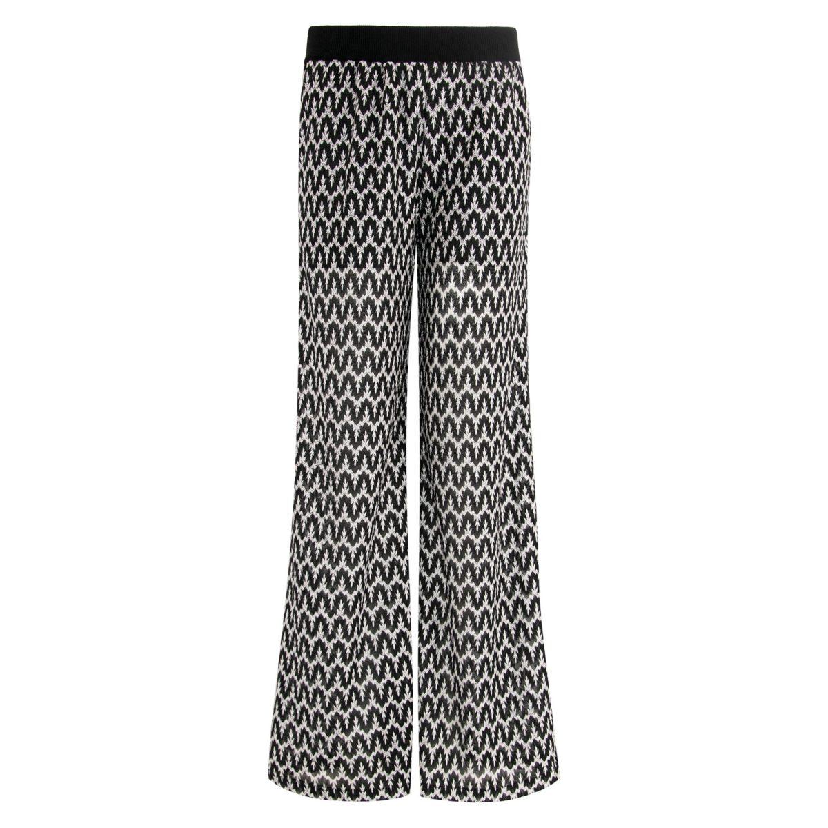 Pantalone Wide leg a maglia raschel